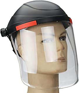 HEREB - Casco de soldadura transparente, protector facial de seguridad, protección contra rayos UV y antichoque