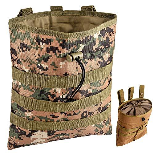Gexgune Molle System Taktische Molle Dump Magazintasche Jagd Recovery Bag Drop Pouch Military Zubehör (Urwald)