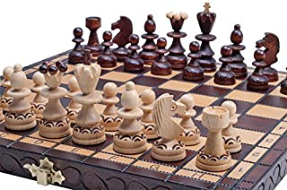 The Radegast Unique Wood Chess Set Includes Chess Pieces, Chess Board and Storage
