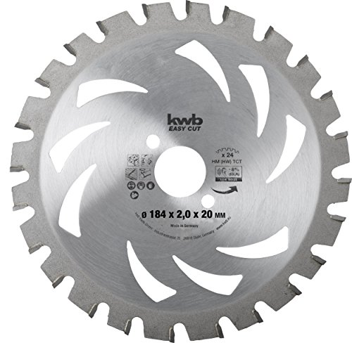 kwb Easy Cut cirkelzaagblad AKKU-TOP, 586138 (hard metaal, asymmetrische tandverdeling, speciale wisseltand)