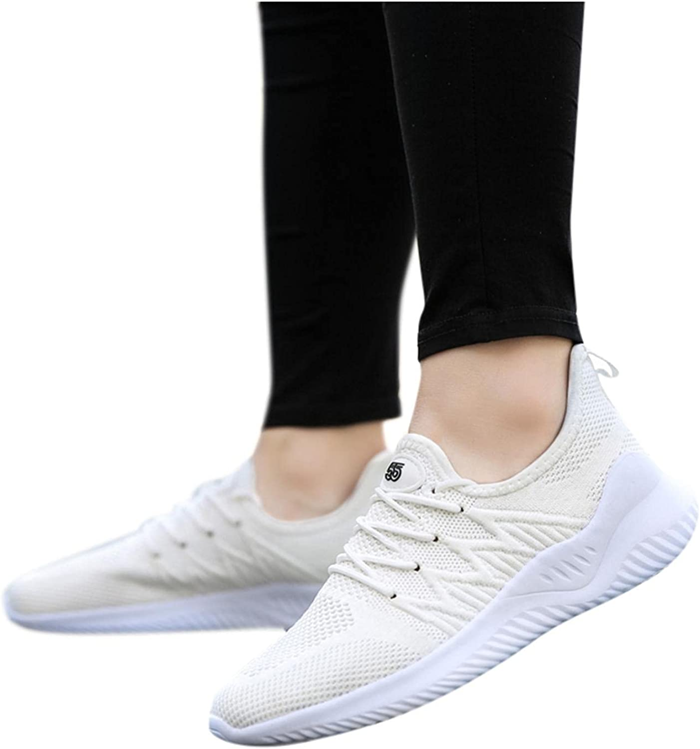 Hbeylia Women's Walking Running Shoes Fashion Sneakers Lightweight Breathable Casual Mesh Non Slip Athletic Hiking Climbing Trekking Tennis Workout Gym Sport Shoes For Women Men