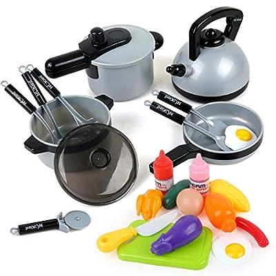 22 Pcs Kids Kitchen Pretend Play Toys, Cooking ...