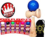 ROYAL Kendama (Pro BKA Competition Approved) japanische Fähigkeit Toy + Flames N Games Reisetasche. (Rosa)