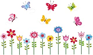 Bright Butterfly Garden Decorative Peel & Stick Wall Art Sticker Decals