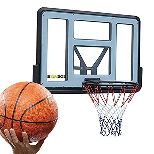 Canasta de Baloncesto Hoop De Baloncesto De Montaje En Pared Portátil, Stand De Baloncesto De Baloncesto Al Aire Libre De Gimnasio Familiar, 43.3x29.5in