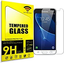 cogac ACTECOM® Cristal Templado Compatible para Samsung Galaxy J3 2016 Protector con Caja