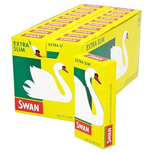 SWAN 600 Extra Fin Conseils de Filtre, Jaune, Lot de 5
