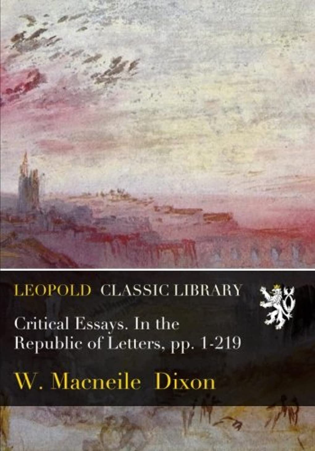 振動する最初はジョージハンブリーCritical Essays. In the Republic of Letters, pp. 1-219