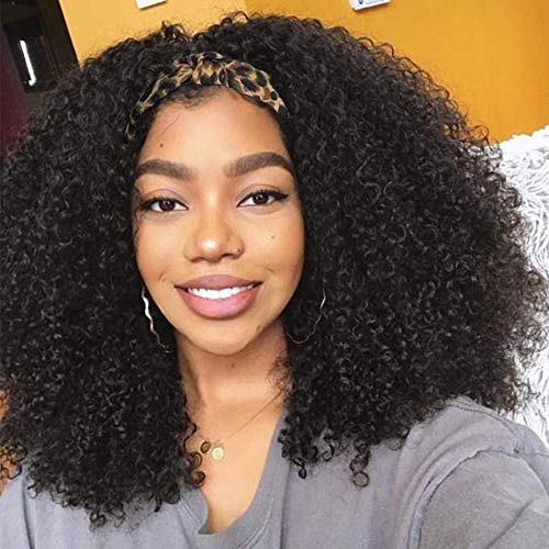 BLISSHAIR 14 Pouces Bresilienne Lace Closure Wigs Perruque Kinky Afro Curl Perruques Cheveux Human Hair Natural 150% Density