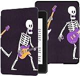 Toute Nouvelle Housse en Tissu résistant à l'eau Kindle Paperwhite (10e génération, Version 2018), Guitare électrique Squelette Joue Le boîtier de la Tablette de Musique Rock
