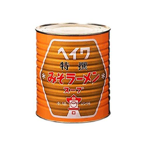 平和食品工業 特撰みそラーメンスープ 3.3kg缶×6