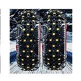RUIRUIY Cadena De Nieve Neumático antideslizante Dispositivo de tracción de emergencia Conducir en invierno Seguridad Cadena de...
