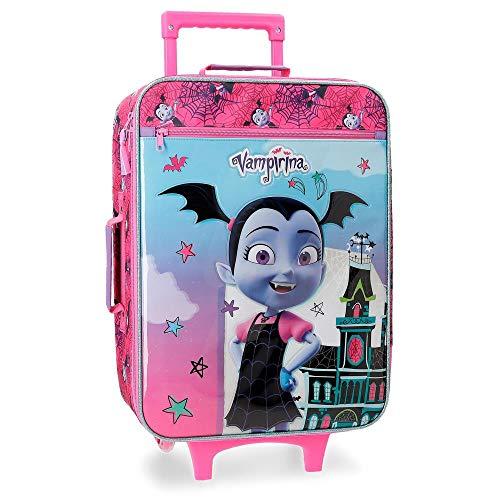Disney Vampirina Maleta de cabina Morado 35x50x16 cms Blanda Poliéster 25L 1,8Kgs 2 Ruedas Equipaje de Mano
