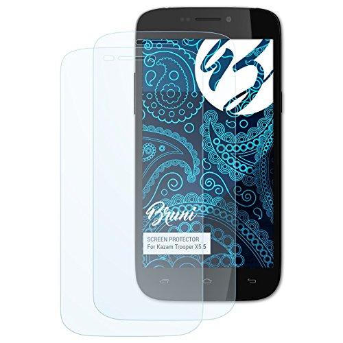 Bruni Schutzfolie kompatibel mit Kazam Trooper X5.5 Folie, glasklare Bildschirmschutzfolie (2X)