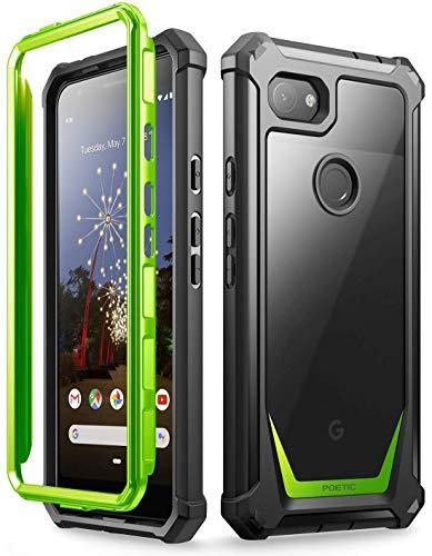 Poetic Guardian Series Entwickelt für Samsung Galaxy Note 20 Ultra Hülle, stoßfeste Ganzkörper-Hybrid-Stoßstangenabdeckung, Ohne Eingebauten Bildschirmschutz, Grün/klar