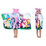 Franco Kids Bath and Beach Soft Cotton Terry Hooded Towel Wrap, 24' x 50', My Little Pony