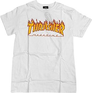 Thrasher Magazine FlameホワイトS Tシャツ