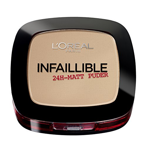 L'Oréal Paris Infaillible 24H Halt Make-up und Puder Nr. 160 sand beige, extra deckend als...