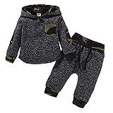puseky Kleinkind Säugling Baby Jungen Hoodie Outfit Camouflage Hoodie Sweatshirt Hosen Winter Herbst Kleidung Set