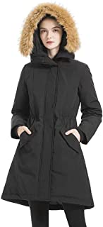 Women's Waterproof Thickened Down Parka Coat with Royal Fur 90% Down Coat