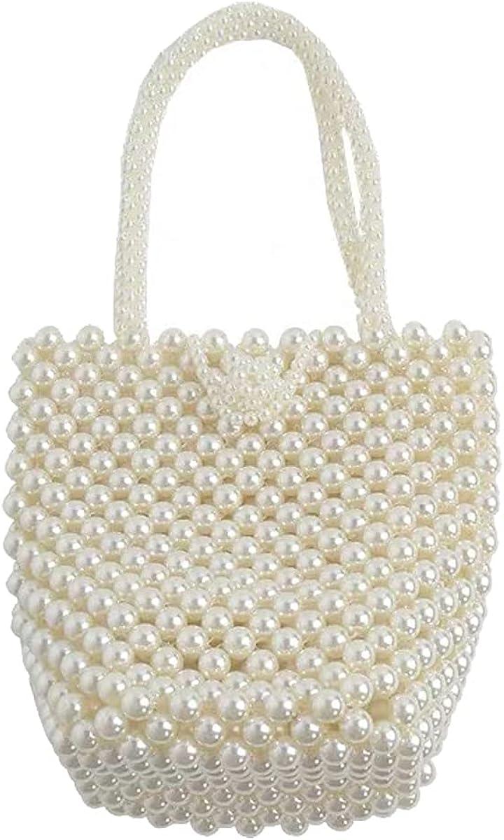 Handmade Beaded Bag Pearl Tote price Women Summer Small Albuquerque Mall