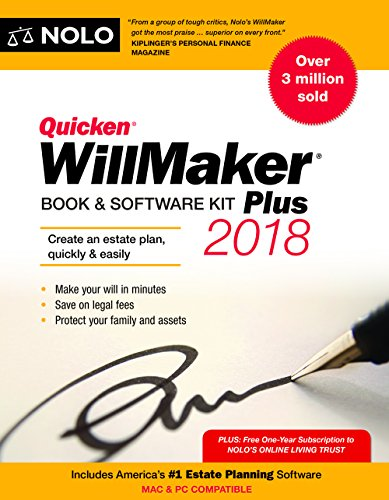 Quicken Willmaker Plus 2018 Edition: Book & Software Kit