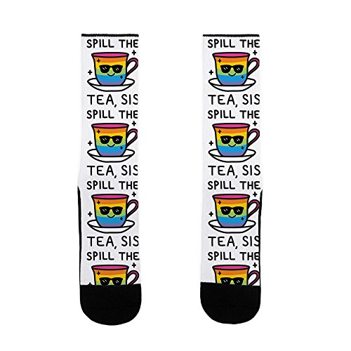 LookHUMAN Spill The Tea, Sis LGBTQ+ Pride US Size 7-13 Socks