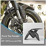 Z900 Parti Moto In Fibra di Carbonio Pneumatico Anteriore Parafango Splash Fango Parapolvere Copriruota Copertura Protector Carenatura per 2017 2018 2019 2020 Kawasaki ZR900 Z ZR 900 17-20 (Davanti)