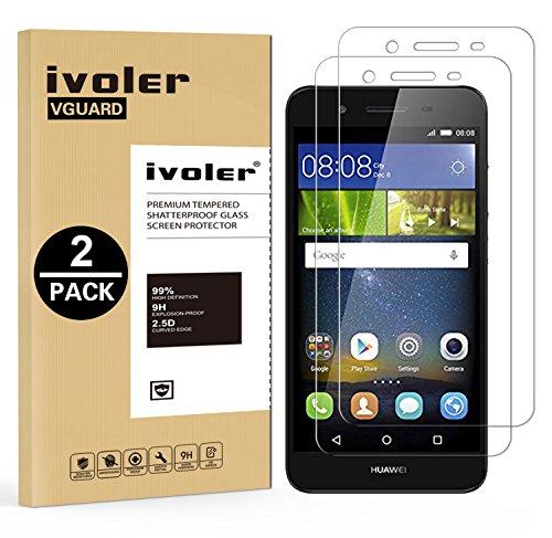 iVoler [2 Pack] Pellicola Vetro Temperato per Huawei P8 Lite Smart, Pellicola Protettiva Protezione per Schermo per Huawei P8 Lite Smart