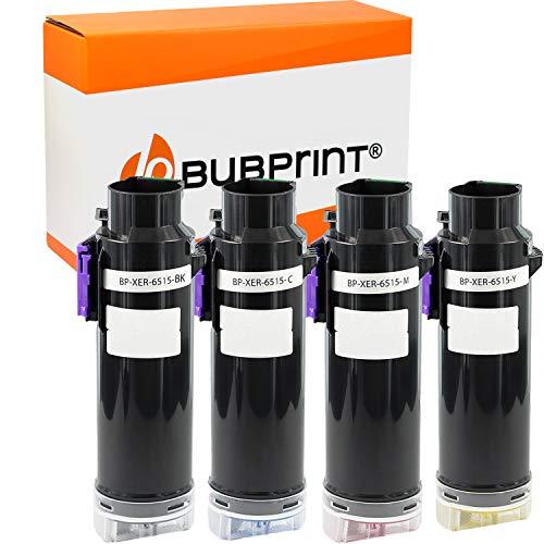 Bubprint Kompatibel Toner als Ersatz für Xerox 106R03480 BK/C/M/Y für Phaser 6510 DN 6515 DNI 6510DN 6510DNI 6510N WC 6515N WorkCentre 6515DN 6515DNI Multipack 4er-Pack