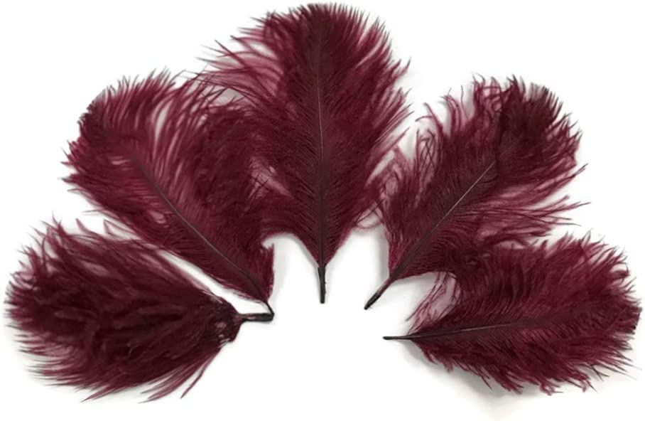 Wholesale Pack Portland Mall - Burgundy Ostrich Bulk Small Confetti Feathers Los Angeles Mall