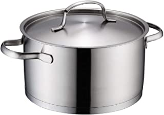 SHYOD Sartén Apta for lavavajillas de Acero Inoxidable con asa de asa y Utensilios de Cocina con Tapa