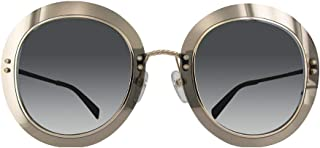 Marc Jacobs Women's Marc 262/S IR 2M2 51 Sunglasses, Black Gold/GY Grey