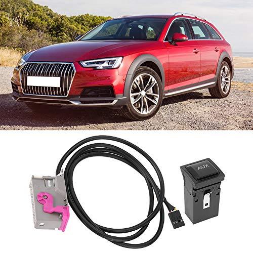 Terisass Cable AUX de 3.5 mm Enchufe para Cable de Entrada AUX automotriz con CD para automóvil RNS-E Entrada AU 3.5 mm de 32 Pines AUX Line Fit para A3 A4 A6 A8 TT R8