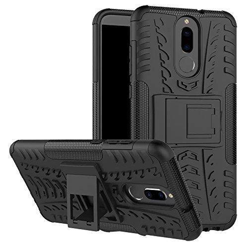 Cover Huawei Mate 10 Lite, GOGME [Tough Armor Series] Robusto Pannello Posteriore PC Antigraffio + Antiurto TPU Dual Layer Armour Ibrida Custodia, nero
