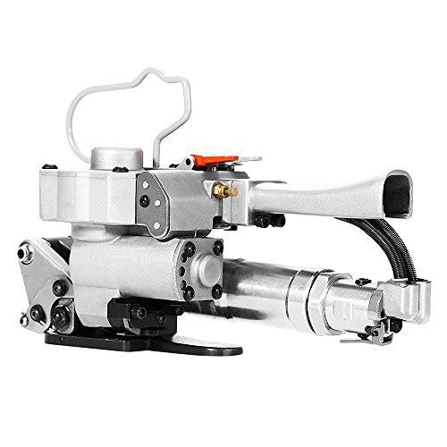 TOPQSC Máquina neumática de flejado Máquina de envasado manual para PP y PET Máquinas flejadoras portátiles 1/2 pulgada a 3/4 pulgada (13~19 mm) Tensión máxima: 3500N