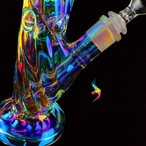 Lento Cv Bong de cristal 14.4mm 30cm fumar tubos de agua hechos a mano gruesa chapado Bongs cachimba