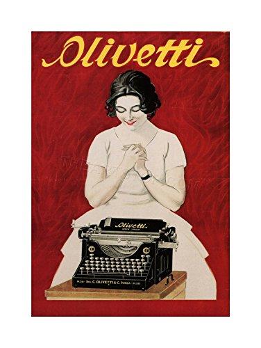 Wee Blue Coo Ad Olivetti Typewriter Vintage Italy Wall Art Print Vintage ▾ Italia Parete