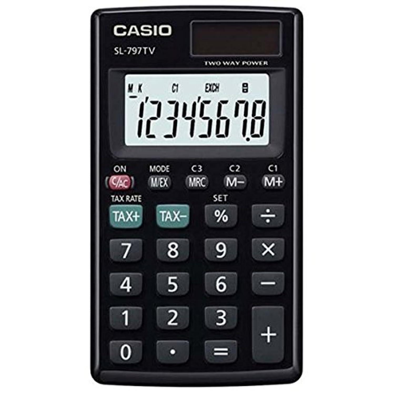 寄託サイクル驚くべきCasio SL-797TV-BK 電卓ポータブルタイプ SL797TV ブラック [並行輸入品]