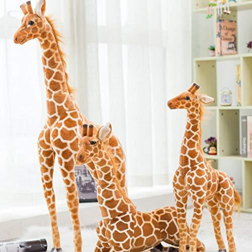 N / A Riesige große Giraffe Plüschtier niedlich Stofftier weiche Giraffe Puppe Geburtstag Kinder Spielzeug 80cm