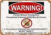 不発弾の警告 メタルポスタレトロなポスタ安全標識壁パネル ティンサイン注意看板壁掛けプレート警告サイン絵図ショップ食料品ショッピングモールパーキングバークラブカフェレストラントイレ公共の場ギフト
