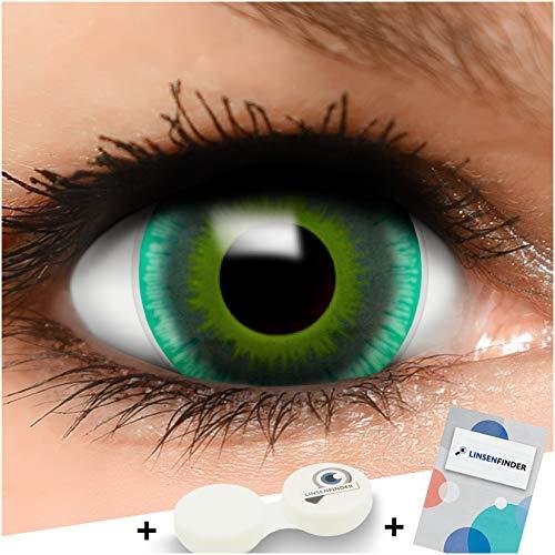 Farbige Mini Sclera Kontaktlinsen Lenses Alien inkl. Behälter - Top Linsenfinder Markenqualität, 1Paar (2 Stück)