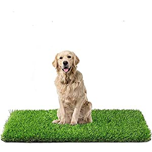 Fezep Artificial Grass, Dog Pee Pads, Professional Dog Potty Training Rug, Large Dog Grass Mat with Drainage Holes, Pet Turf Indoor Outdoor Flooring Fake Grass Doormat – Easy to Clean