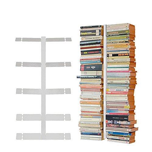 Radius Design booksbaum Double Wand klein weiß, 2tlg. Best.aus: Halterung + Einlegeböden