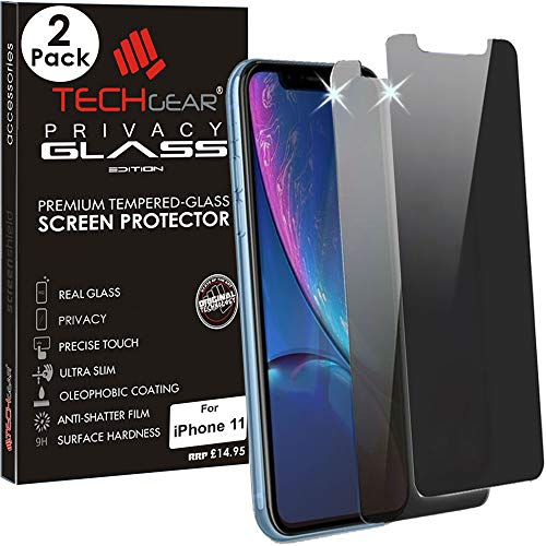 TECHGEAR [2 Pack] Anti Spy Screen Protectors for iPhone 11 - PRIVACY GLASS...