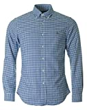 Polo Ralph Lauren Slim FT BD PPC Camisa Casual, Multicolor (Blue/White Gin I44zb), S para Hombre