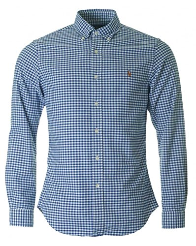 Polo Ralph Lauren Herren Slim FT BD PPC Freizeithemd, Mehrfarbig (Blue/White Gin I44ZB), X-Large