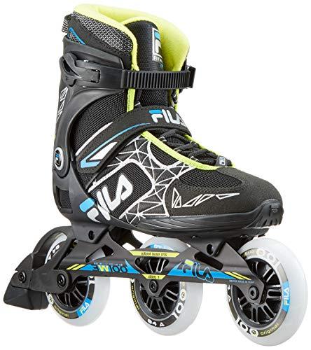 Fila Herren Legacy PRO 100 Inline Skate, schwarz/blau/Lime, 11,5