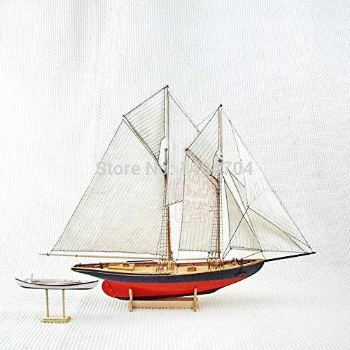 SIourso Maquetas De Barcos Kits De Construcción Modelo Escala 1/87 Clásicos Modelo De Barco De Vela Benjamin W.Latham 1902 Kit De Modelo De Barco De Vela De Madera