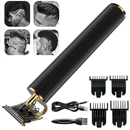 Cortapelos para hombres, profesional sin cables, recortadora de pelo, sin huecos, afeitadora de barba, herramientas de corte de pelo recargables por USB, recortadora de peluquería